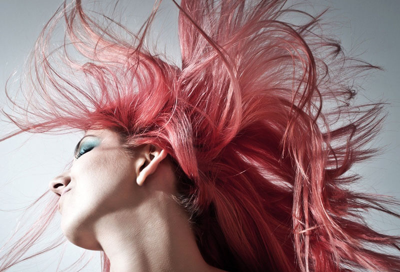 Women show her red hairs