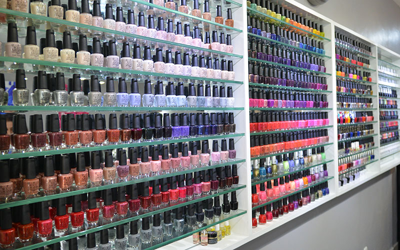 OPI nail gel collection in Nail Salon Ubud